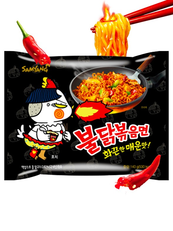 Fideos Ramen Coreano Salteado Wok ULTRA HOT Chicken | Bag