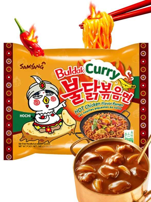 Fideos Ramen Coreano Salteado Wok ULTRA HOT Curry Chicken | Bag