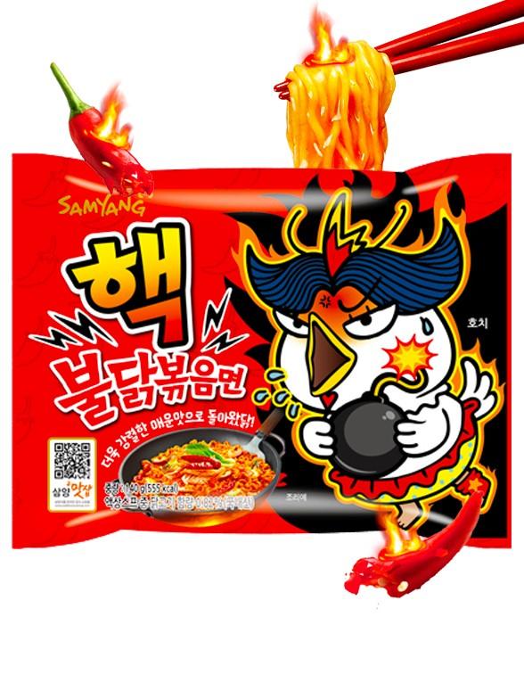 Fideos Ramen Coreano Salteado Wok ULTRA SUPER HOT Chicken | Bag