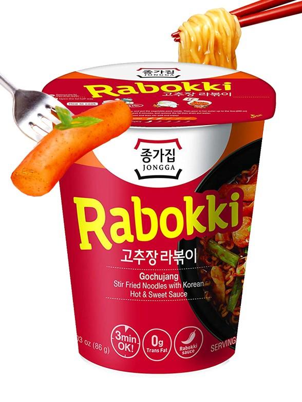 Fideos Ramen Coreanos estilo Topokki con Gochujang   Rabokki Cup 86 grs.