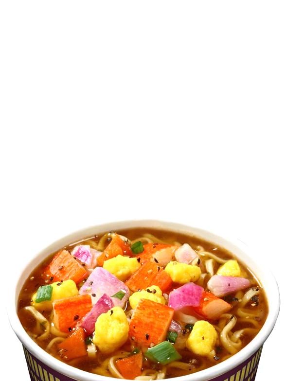 Ramen Nissin Colors Cup Super Toppings | Surimi Pimienta Negra 74 grs. | Pedido GRATIS!
