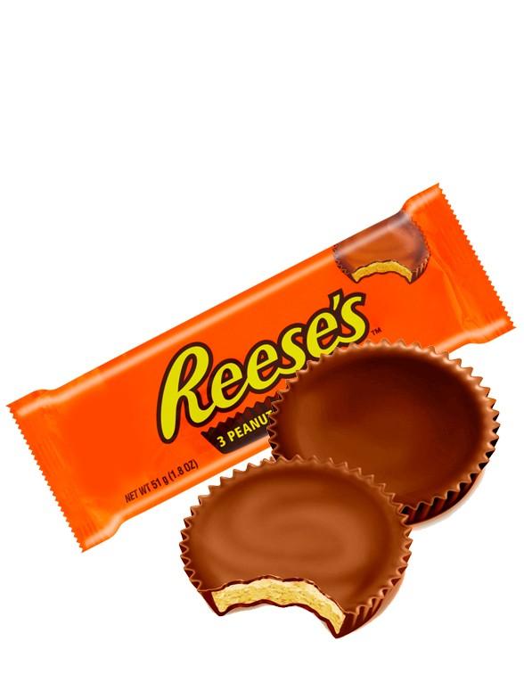 Chocolatinas 3 Cups Reese´s rellenas de Crema de Cacahuete