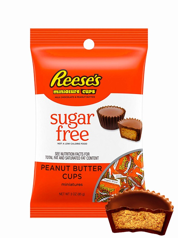 Mini Chocolatinas Reese´s de Crema de Cacahuete   Sin Azúcar 85 grs.