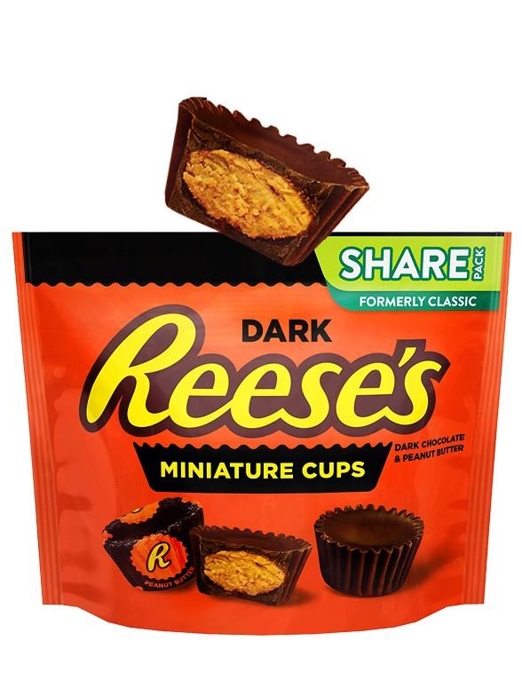 Mini Chocolatinas Reese´s de Chocolate Negro con Crema de Cacahuete 289 grs