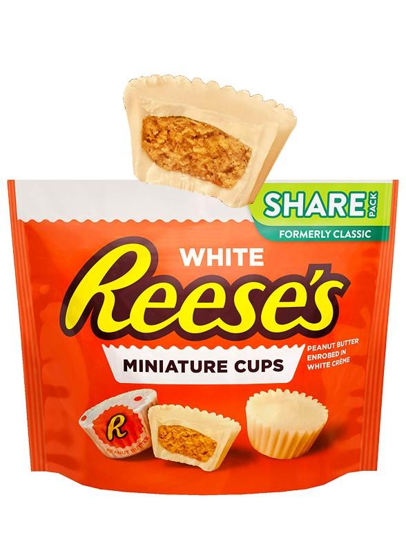Mini Chocolatinas Reese´s de Chocolate Blanco y Crema de Cacahuete 297 grs
