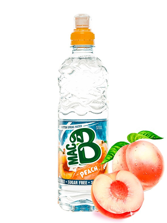 Agua de Manantial sabor Melocotón | Clear 500 ml.