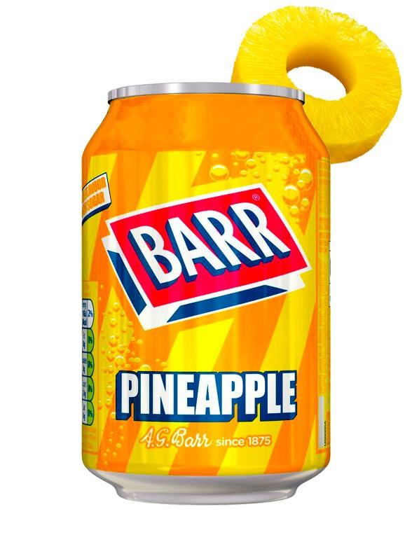 Soda Barr Sabor Piña 330 ml.