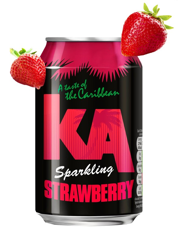 Refresco de Fresa Caribeña | KA 330 ml