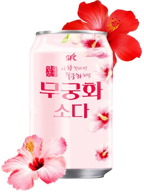 Soda Coreana de Flor Mugunghwha Hibisco Coreano 350 ml.