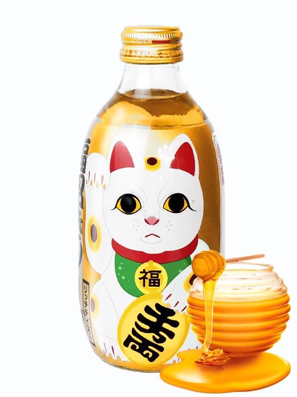 Soda Sparkling Sabor Miel | Maneki Neko Bottle 300 ml