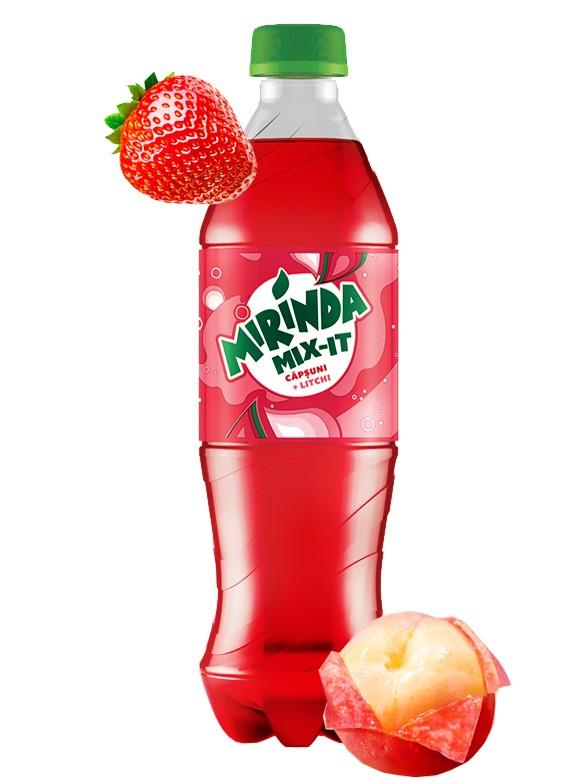 Refresco de Fresa y Lichi   Mirinda 500 ml.