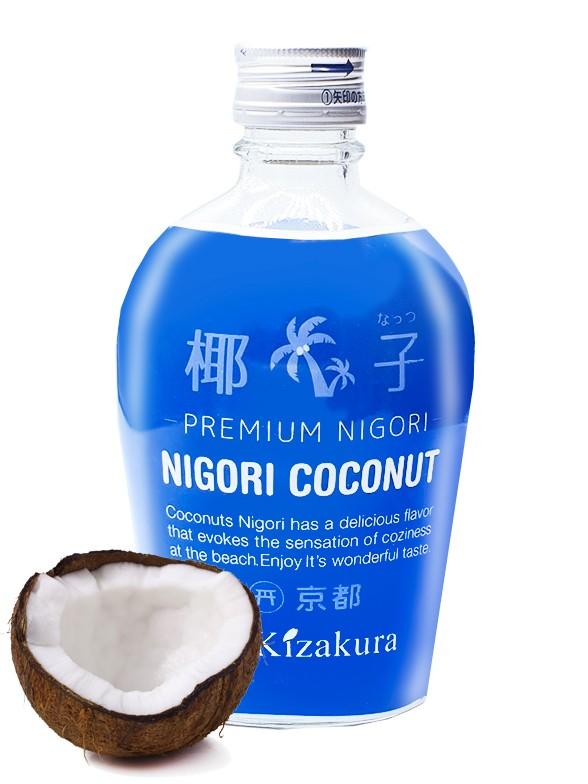 Sake de Kyoto Nigori Coco 300 ml.