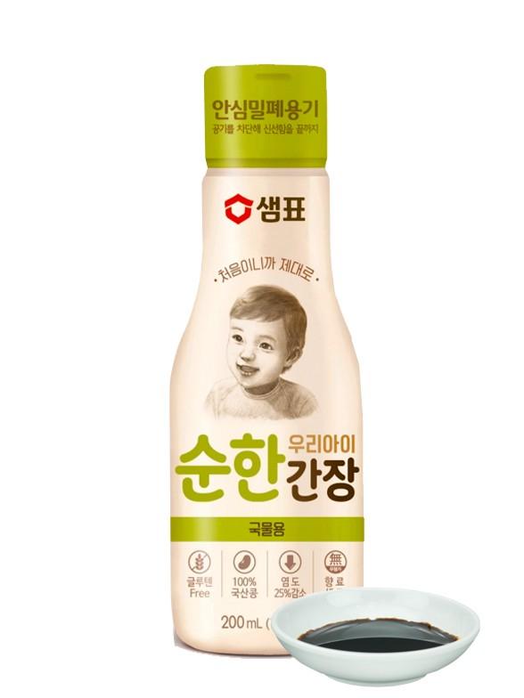 Salsa de Soja Ligera Coreana Especial Niños 200 ml