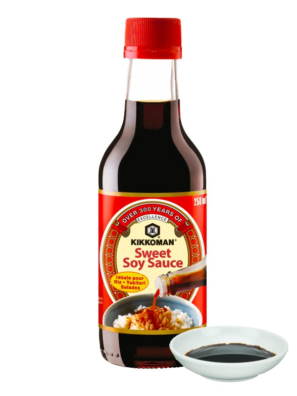 Salsa de Soja Dulce Kikkoman. 250 ml.