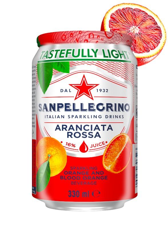 Refresco San Pellegrino de Naranja Sanguina   330 ml.