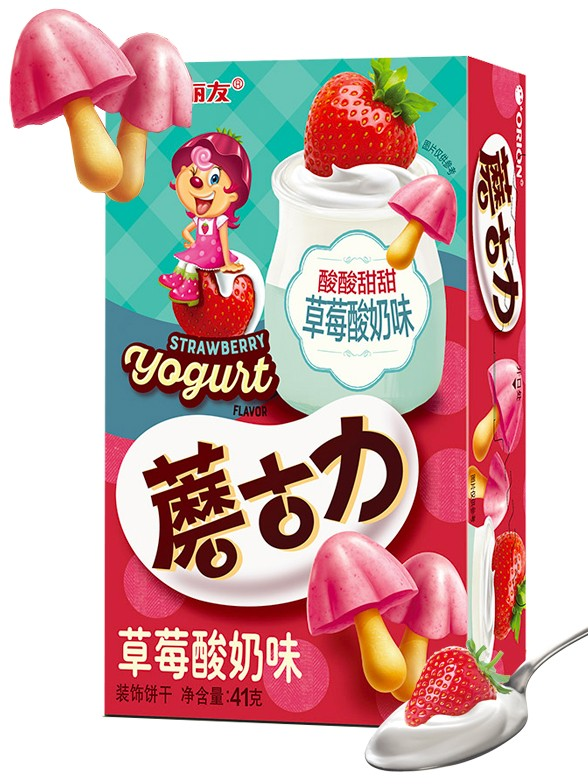 Galletitas Setas de Crema de Yogur con Fresas 41 grs.