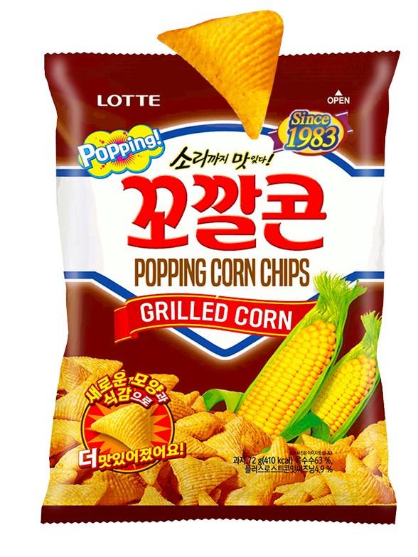 Almohadillas Snack Coreano de Maíz Dulce | Lotte Jumbo 144 grs