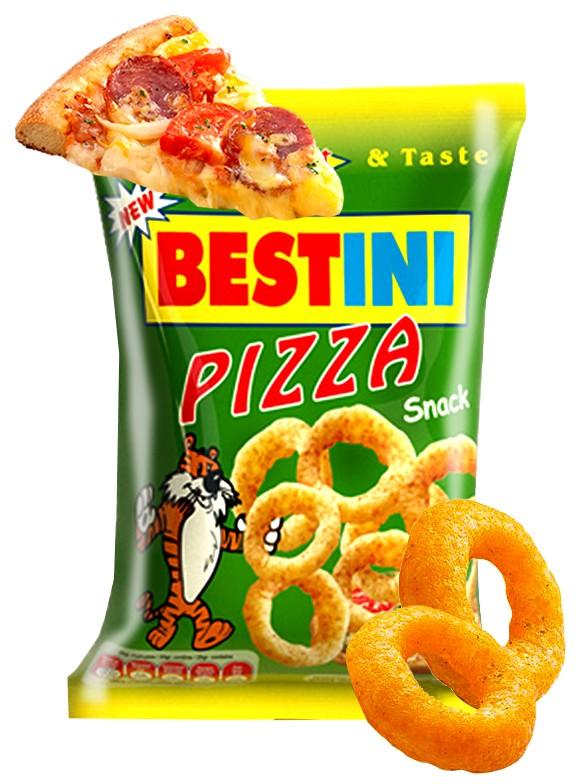 Snack de Maíz Sabor Pizza Bestini 25 grs.