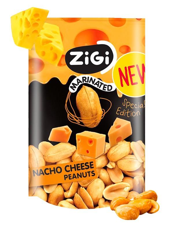 Snack de Cacahuetes sabor Queso para Nachos 70 grs.