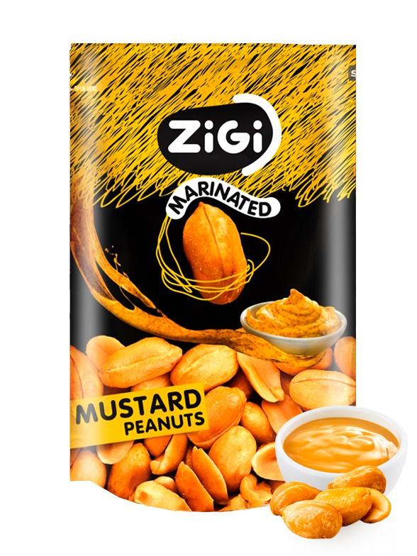 Snack de Cacahuetes sabor Mostaza 70 grs.