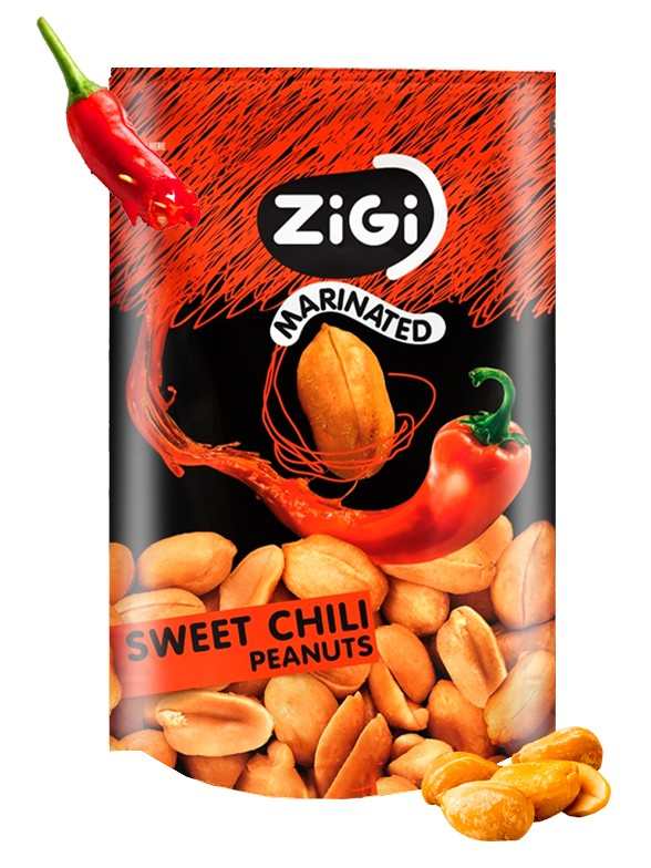 Snack de Cacahuetes sabor Sweet Chili 70 grs.