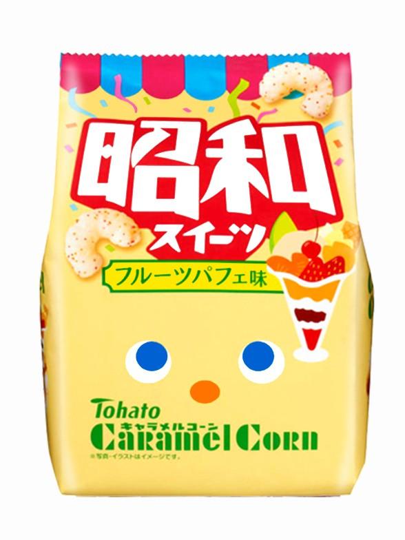 Snack Lovely Tohato Helado Fruit Parfait   Caramel Corn 77 grs