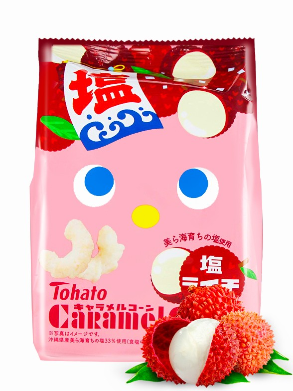 Snack Lovely Tohato Salty Lychee Caramel Corn 77 grs.