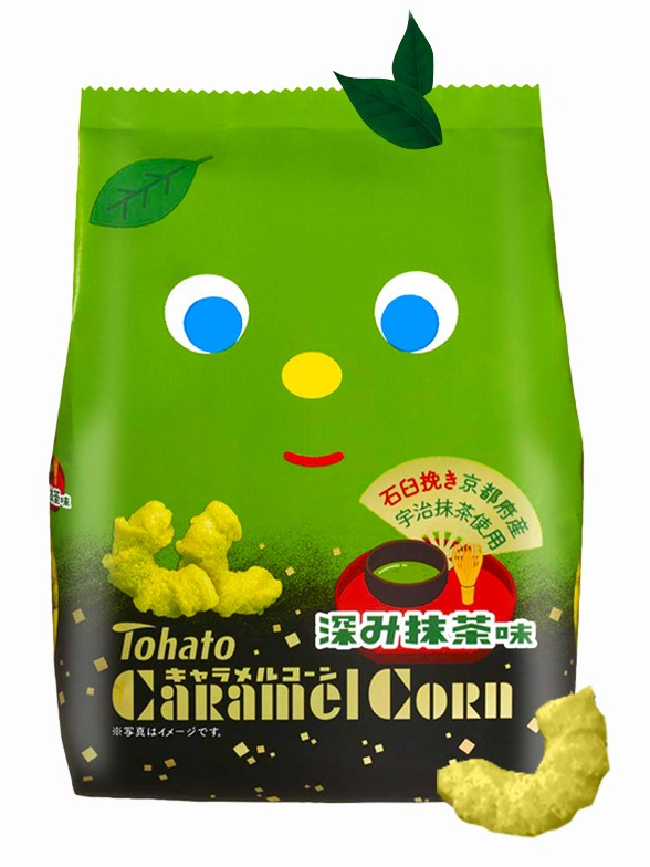 Snack Lovely Tohato Matcha | Caramel Corn 77 grs