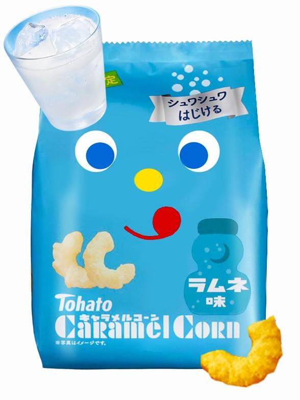 Snack Lovely Tohato Ramune | Caramel Corn 77 grs