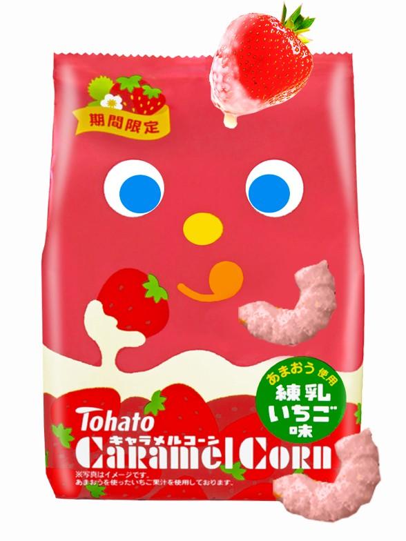 Snack Lovely Tohato Sabor Fresas con Leche Condensada 77 grs