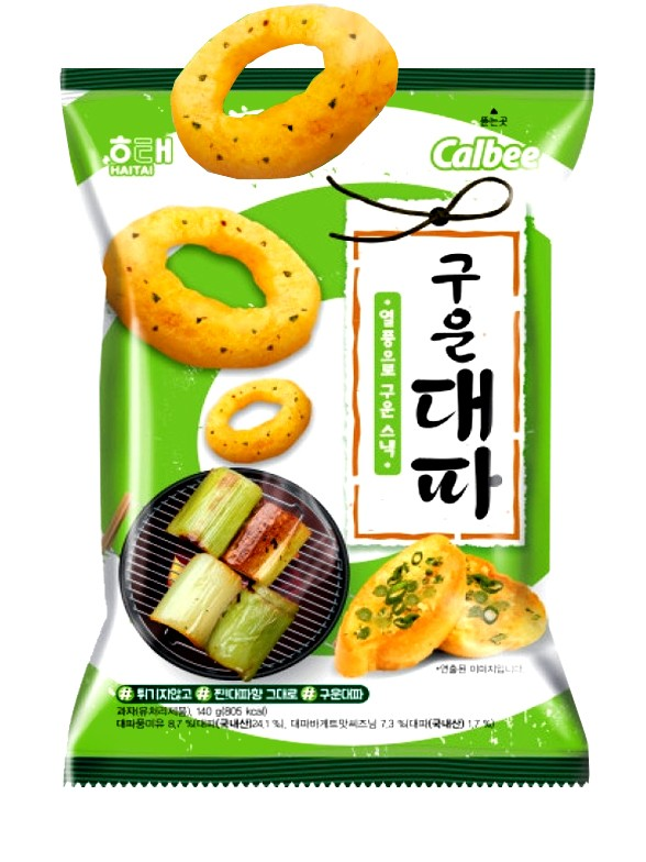 Snack Coreano Sabor Cebolla con Cebollino al Grill 70 grs.