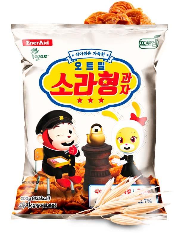 Snack Coreano Conchas de Avena 100 grs.   OFERTA!!