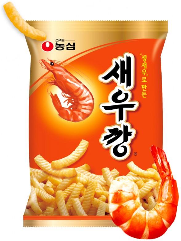 Snack Coreano Sabor Gambas a la Parrilla   Nongshim Seawu Kang