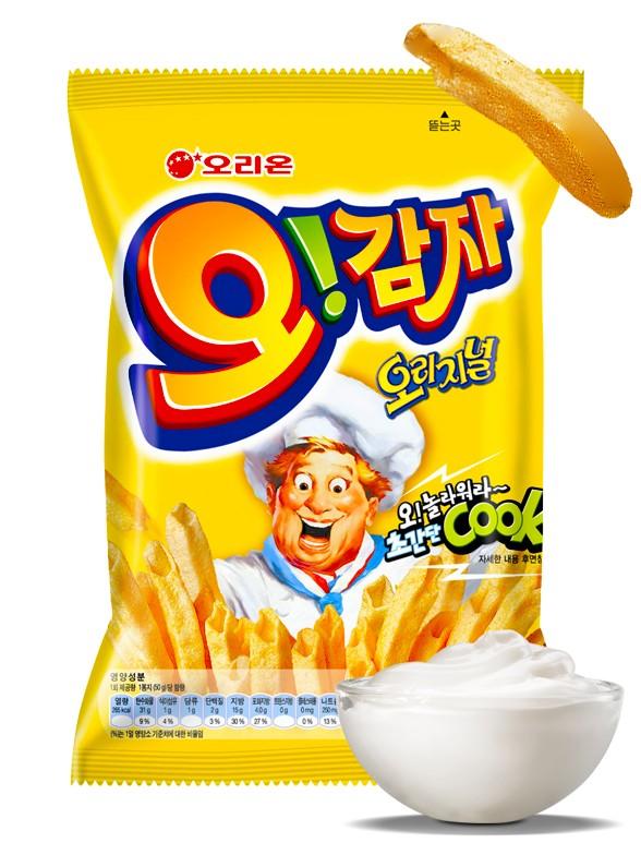 Snack Coreano de Patata Sabor Crema de Queso | Macaroni Gratin
