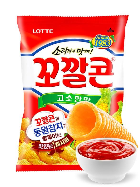 Snack Coreano de Maíz Dulce a la Salsa Gochujang 72 grs.