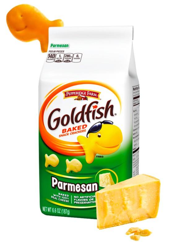 Galletitas Saladas de Parmesano   Goldfish 187 grs.