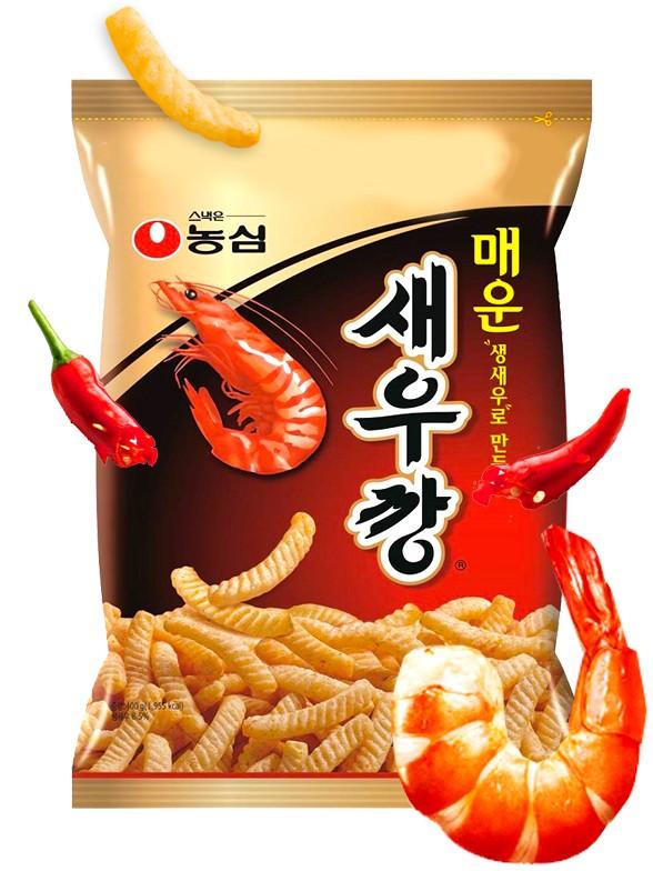 Snack Coreano Sabor Gambas a la Parrilla   HOT & Spicy