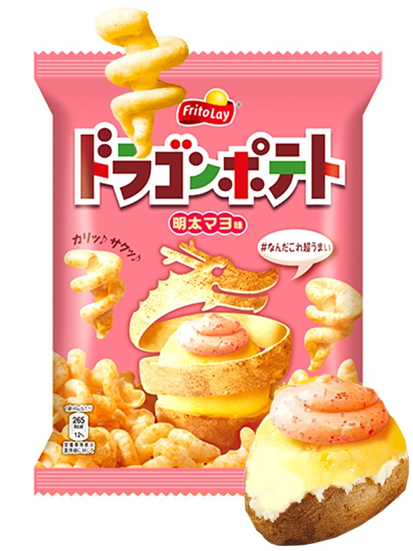 Snack Dragon Patata Asada Sabor Mentaiko y Mayonesa 48 grs