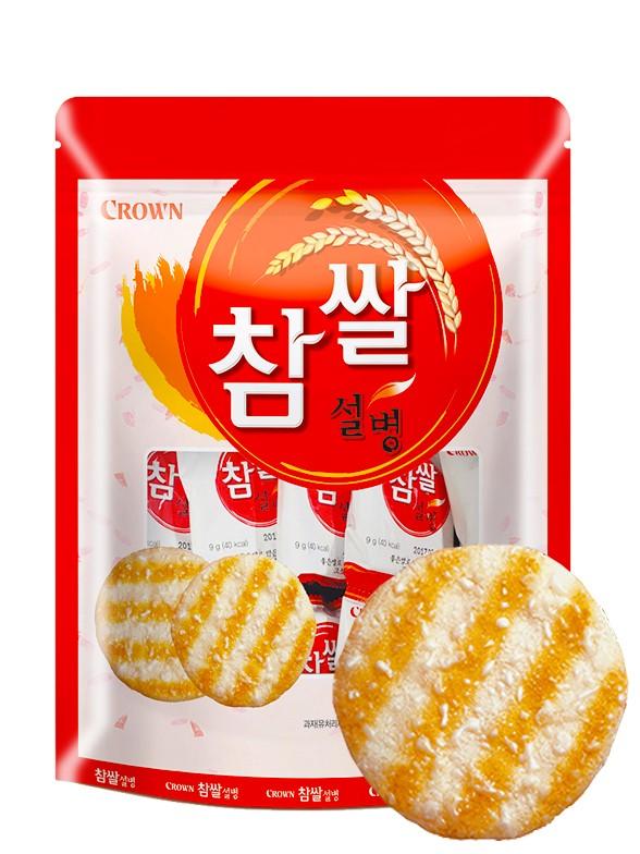 Galletas Coreanas Senbei de Arroz con Azúcar Glas | 128 grs.