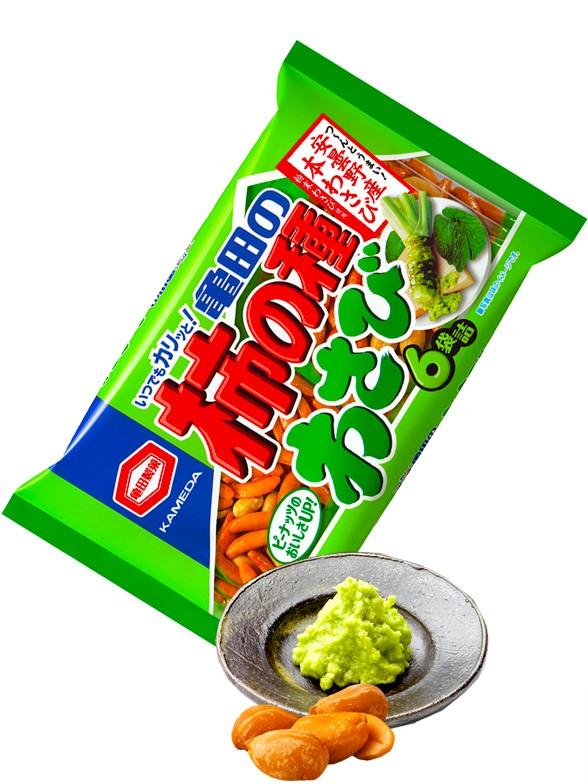 Mix de Snack de Arroz Senbei y Cacahuetes con Wasabi Big 182 grs.