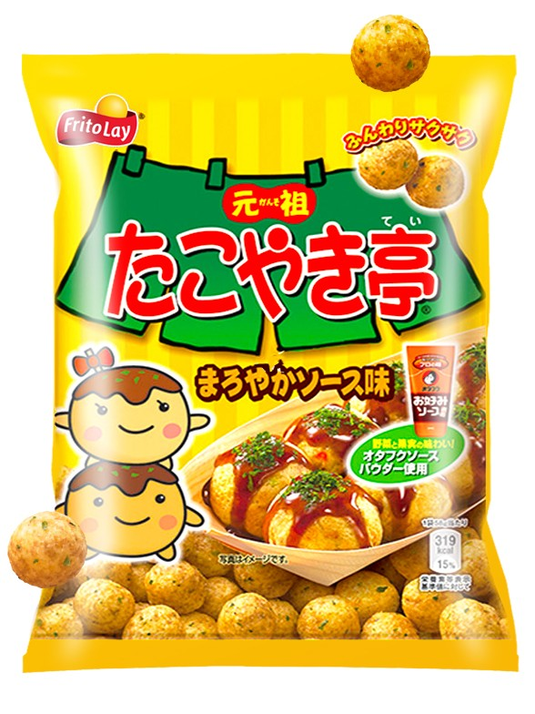 Snack Sabor Takoyaki | Con Salsa Otafuku de Osaka 58 grs