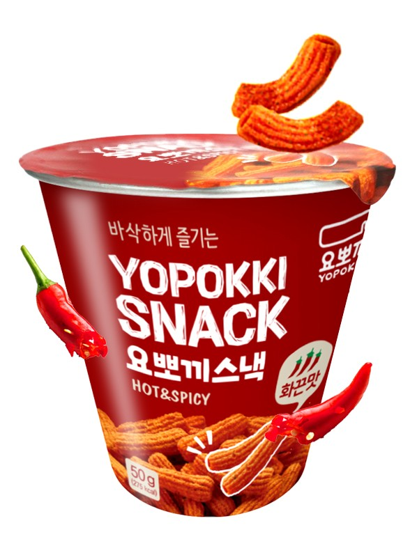Snack Coreano Sabor Topokki HOT & Spicy 50 grs.