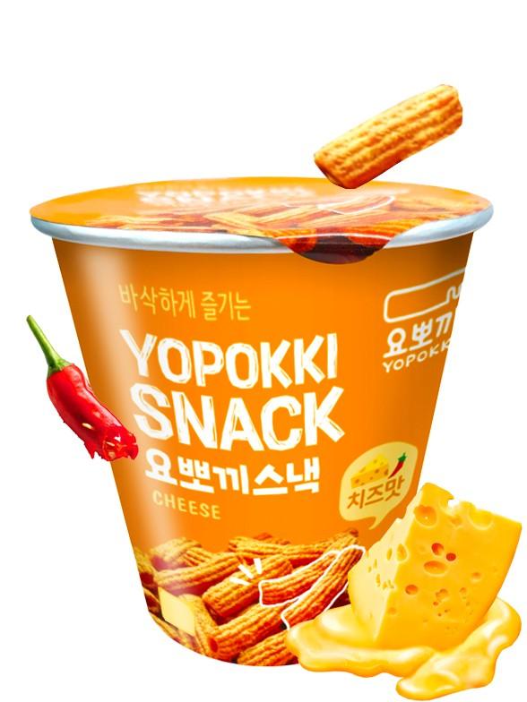Snack Coreano Sabor Topokki con Queso y Guindilla 50 grs.