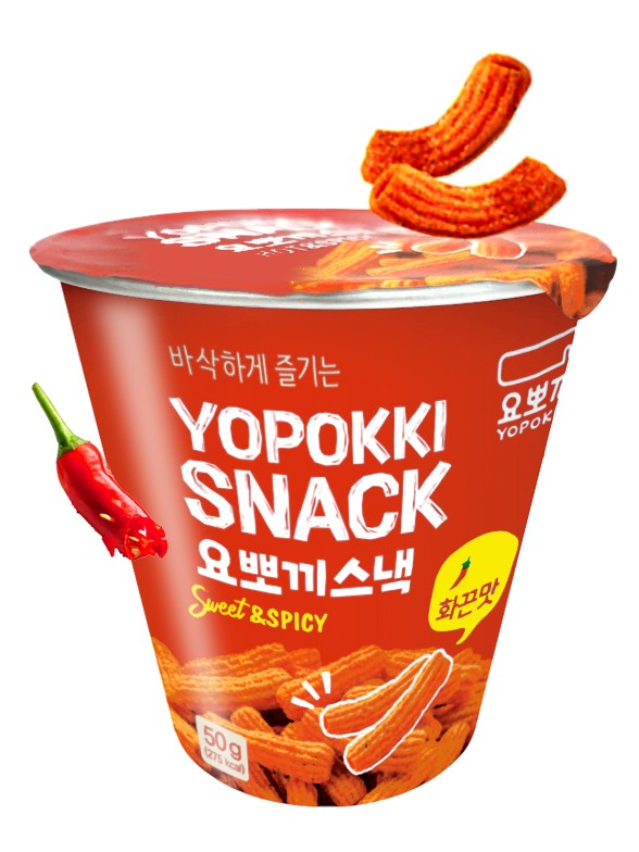 Snack Coreano Sabor Topokki Sweet & Spicy 50 grs.