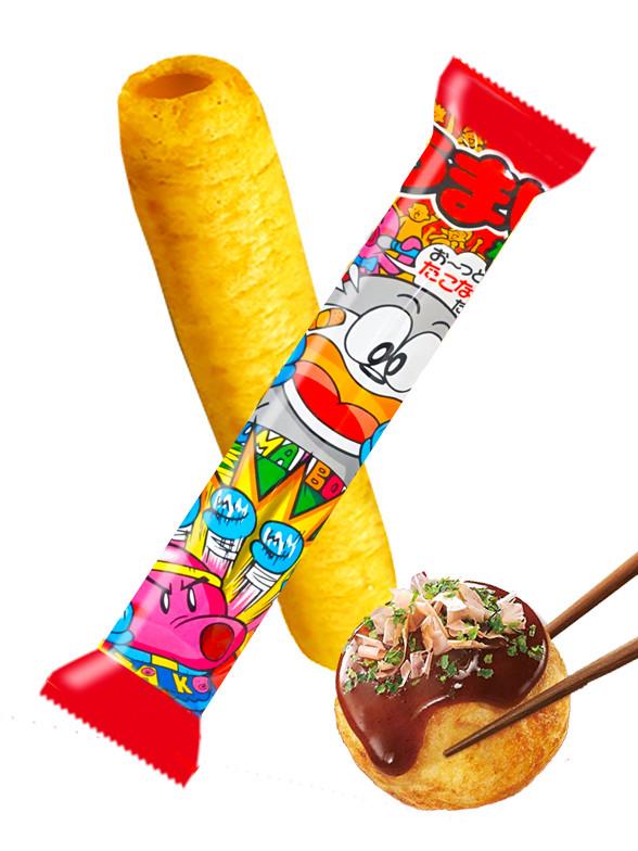 Snack Roll de Maiz Sabor Takoyaki | Umai-Bo