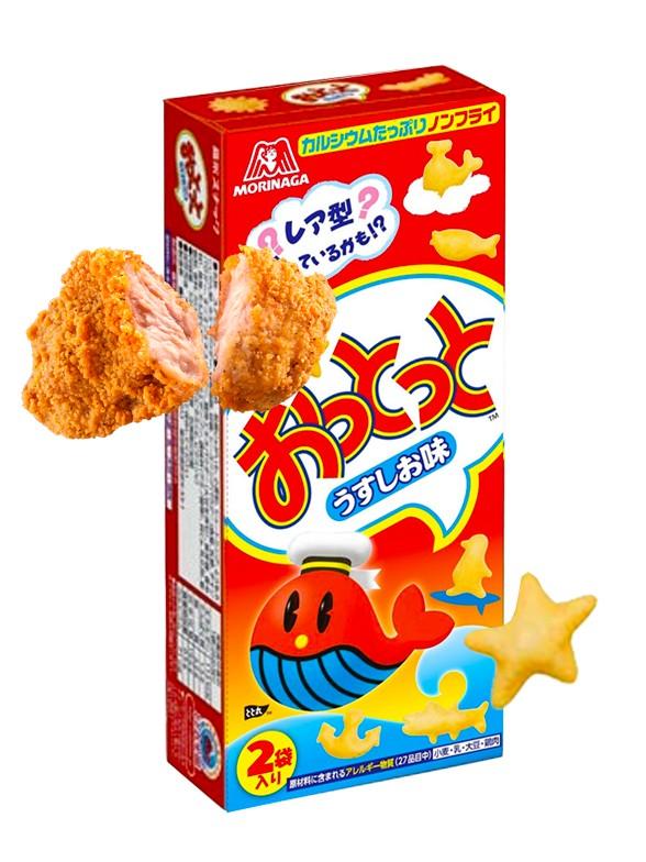 Snack Ballena Okito Usukushi | Sabor Pollo 52 grs.