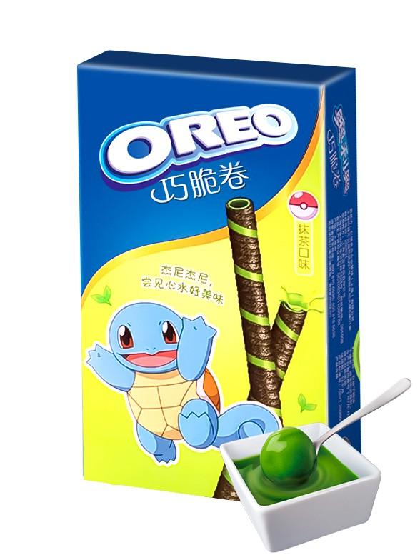 Sticks de Barquillo de Oreo rellenos de Té Verde Matcha   Edición Pokemon 55 grs