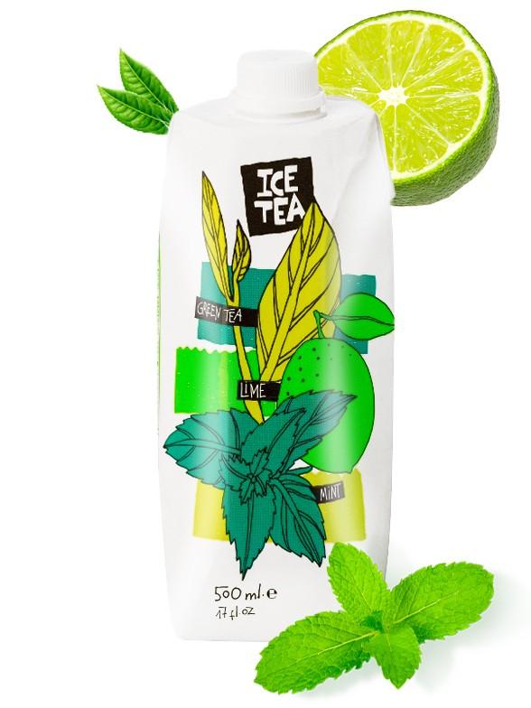 Té Verde Helado con Lima  y Menta 500 ml