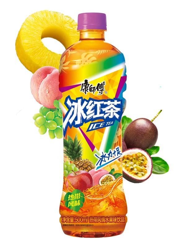 Té Negro ICE sabor Tropical 500 ml.