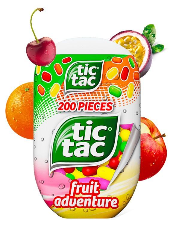 Caramelos Tic Tac Fruit Adventure 200 unidades
